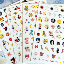 Newest CA sereis CA-39-40-41beautiful girl 3d nail art sticker decal stamping export japan designs rhinestones  decorations