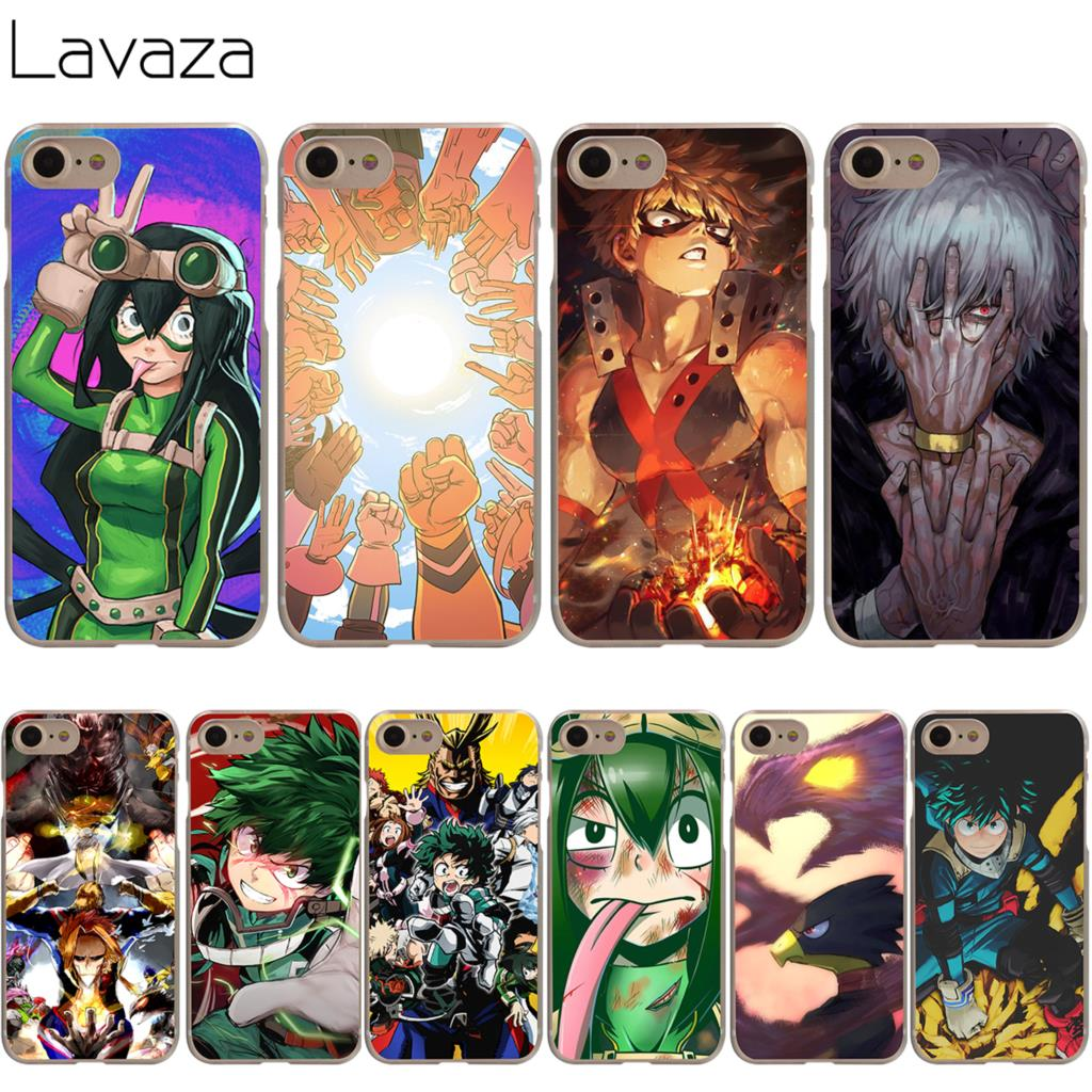 finest selection 4ce30 1b230 US $2.12 6% OFF|Lavaza Boku no Hero Academia Case for iPhone XS Max XR X 8  7 6 6S Plus 5 5s se-in Half-wrapped Case from Cellphones & ...