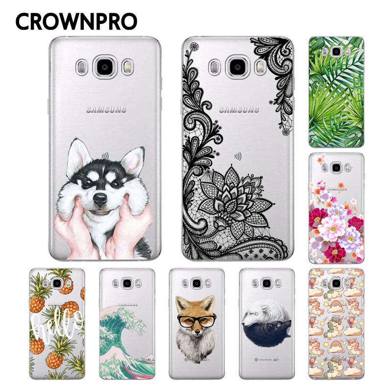 Galleria fotografica CROWNPRO Soft TPU FOR Funda <font><b>Samsung</b></font> <font><b>Galaxy</b></font> J5 2016 Case J510 J510F Cover Painted Back Protective FOR Coque <font><b>Samsung</b></font> J5 2016 Case