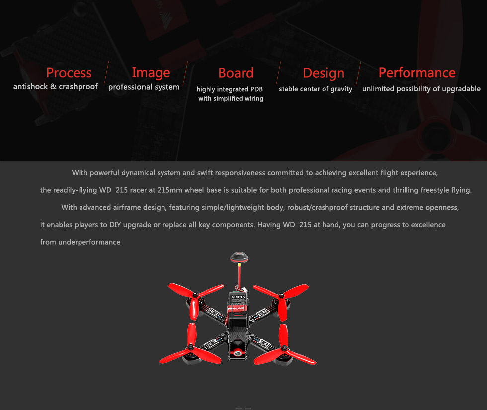 Weyland Furious 215 Christmas gift FPV RC toys Racing Drone Quadcopter 4mm rc frame qav215 Free Shipping