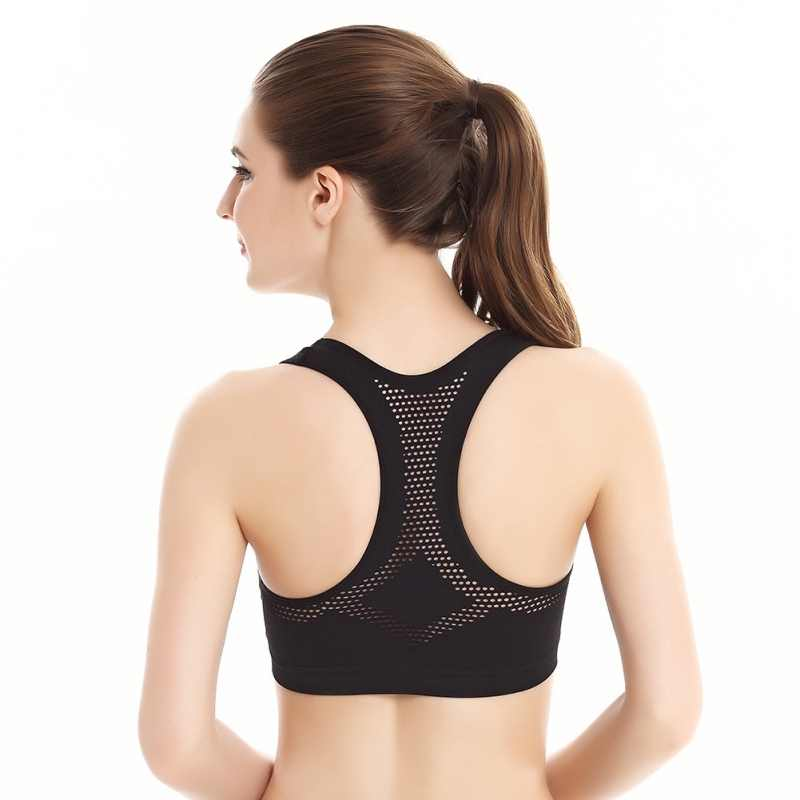 Vrouwen Workout Stretch Tank Top Yoga Padded Vest Sport Bh Tops Racerback Sportbeha multi-color