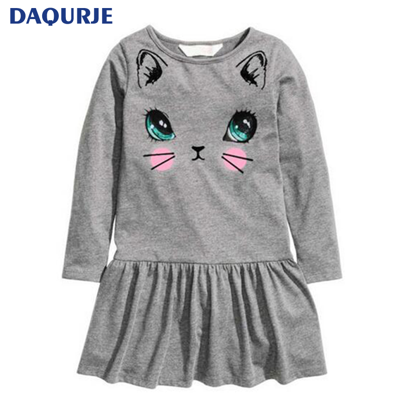 New listed baby girl clothes spring autumn casual dresses kids girl dress children clothing high quality cotton princess dress 2017 autumn girl long sleeves dress fashion baby casual kids cotton dress print rainbow 3 8 year old children s clothing lh6010