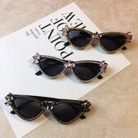 ee3db53cf Vazrobe Diamond Sunglasses Women Cat Eye Rhinestone Glasses Party Shows  Luxury Punk Sunglass Female Woman Fashion. Vazrobe Óculos ...