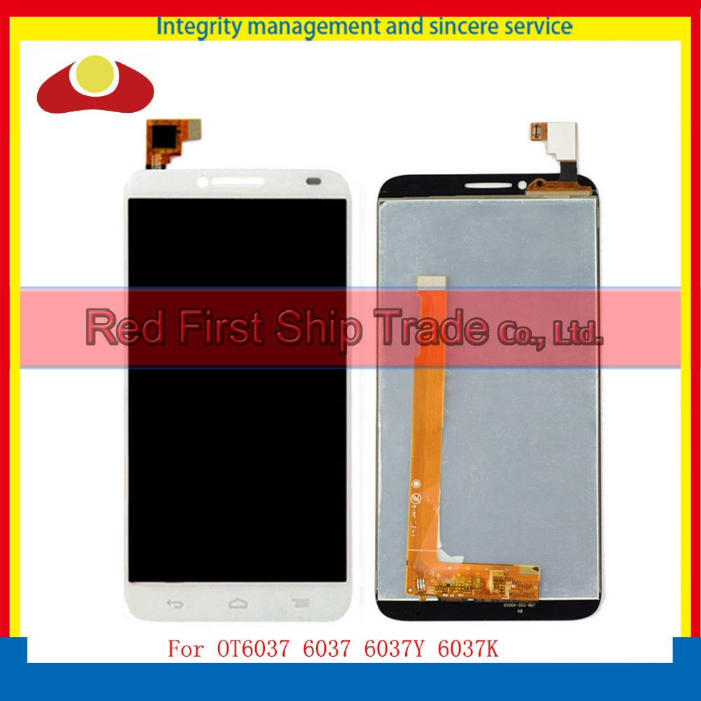 For Alcatel One Touch Idol 2 OT6037 6037 6037Y 6037K Full Lcd Display With Touch Screen Digitizer Assembly Complete Black White lcd screen for alcatel idol 2 s ot6050 6050 6050a 6050y idol 2s lcd display touch screen digitizer assembly free shipping