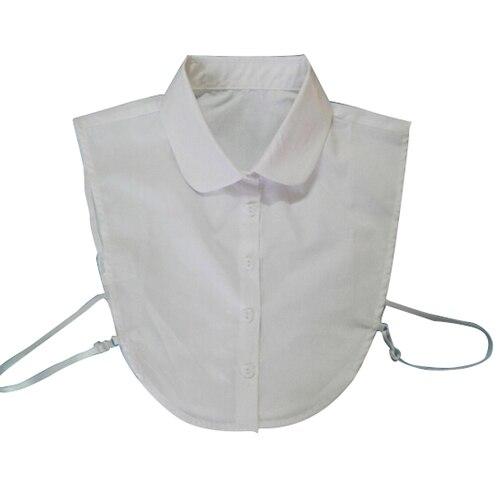 LBFS Hot Fashion Doll Collar Vintage Elegant Women's Fake Half Shirt Detachable Blouse White