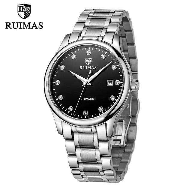 RUIMAS Men Mechanical Watch Automatic Stainless