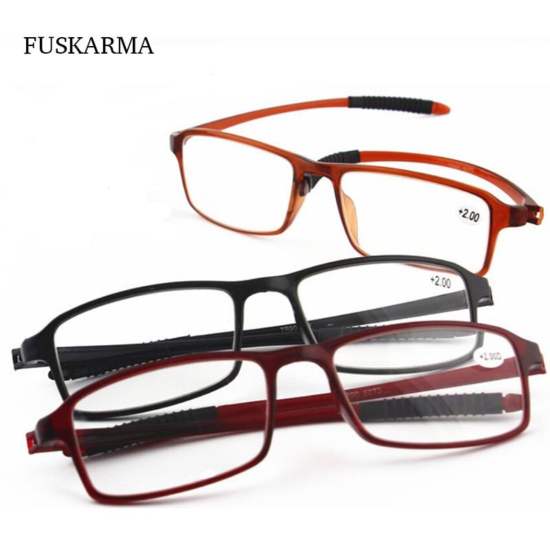 Nueva moda de alta calidad tr90 Gafas para leer para mujer hombres  anti-fatiga resina ultraligero lente presbicia ojos Gafas hombres gafas 8063a51e06