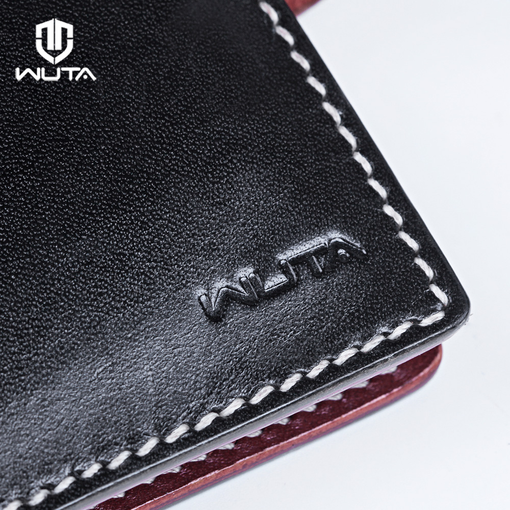 WUTA 967 Men\'s Bifold Vertical Wallet Template Leather Clear Acrylic ...