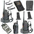 2x baofeng bf-888s uhf 400-470 mhz 5 w 16ch walkie presunto rádio em dois sentidos/walkie-talkie ob0534