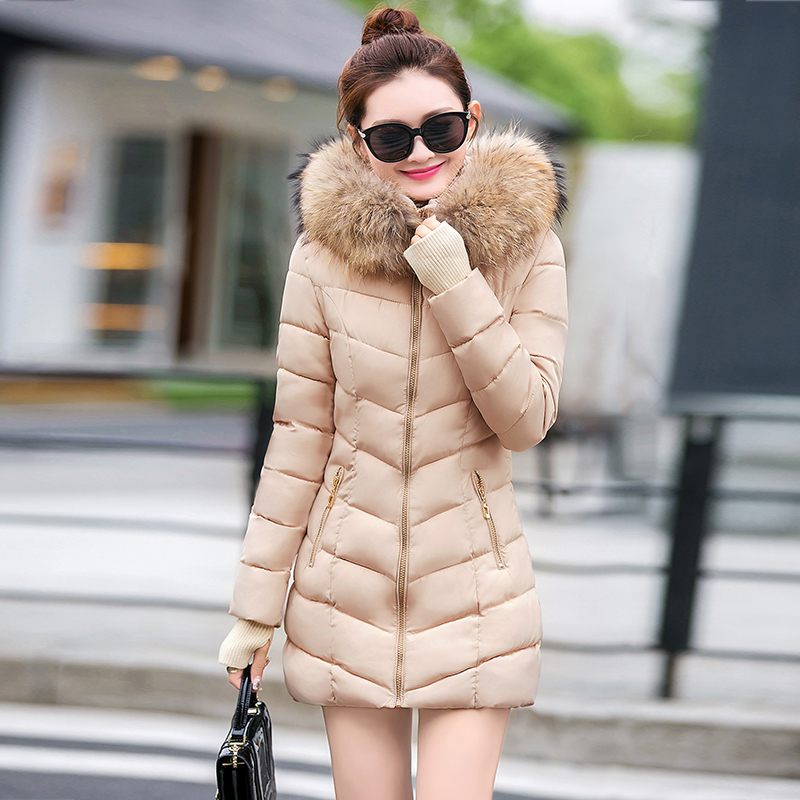 Women Winter Jacket High Quality Hooded Warm Thicken Cotton Padded Long Parka Plus size 3XL Female Coat With Zipper And Fur-in Parkas from Women's Clothing    1