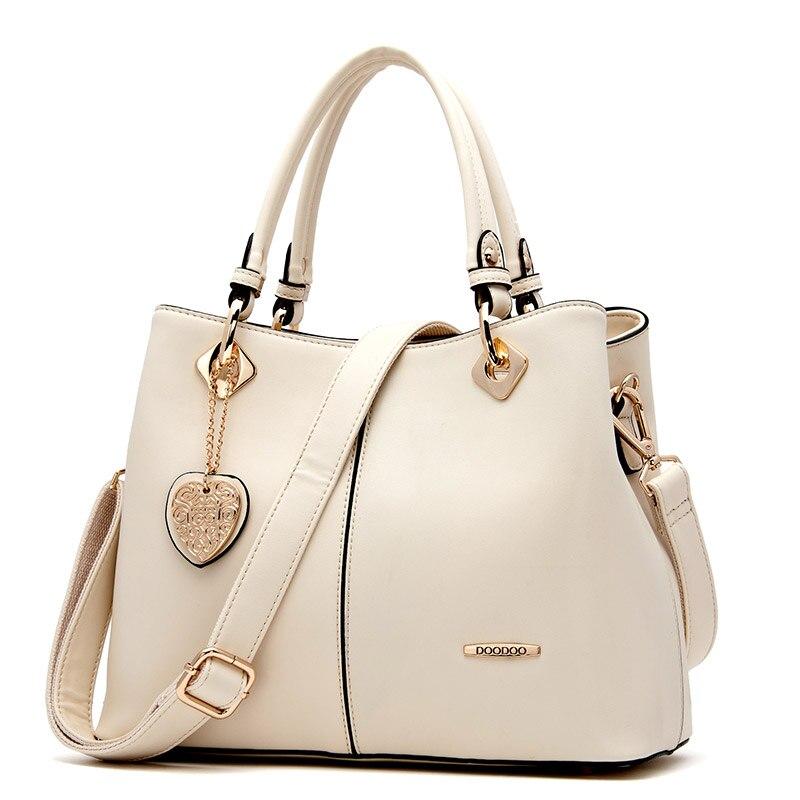 ФОТО Doodoo Women's Versatile Leather Satchel Tote Purse Top Handle Handbag Shoulder Crossbody Bag