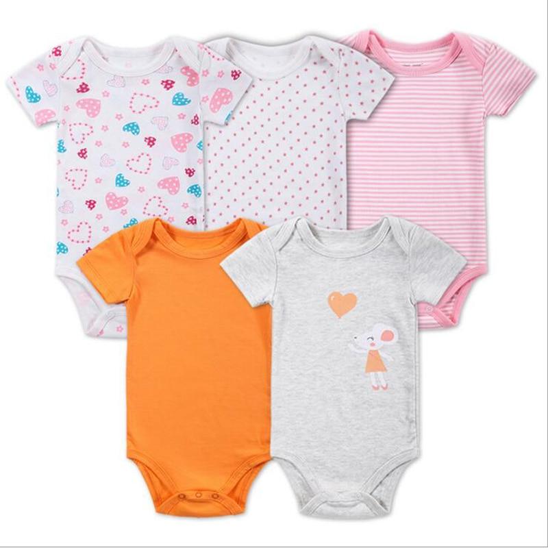 2658bd242e0da 5 PCS LOT Baby Bodysuits Autumn Newborn 100% Cotton Body Baby Long Sleeve  Underwear Infant Jumpsuits Boys Girls Pajamas Clothes