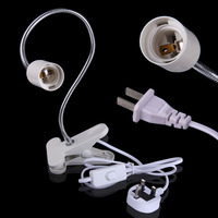 Flexible E27 LED Lamp Holder On Off Switch 50Cm Power Cable Cord With Clip