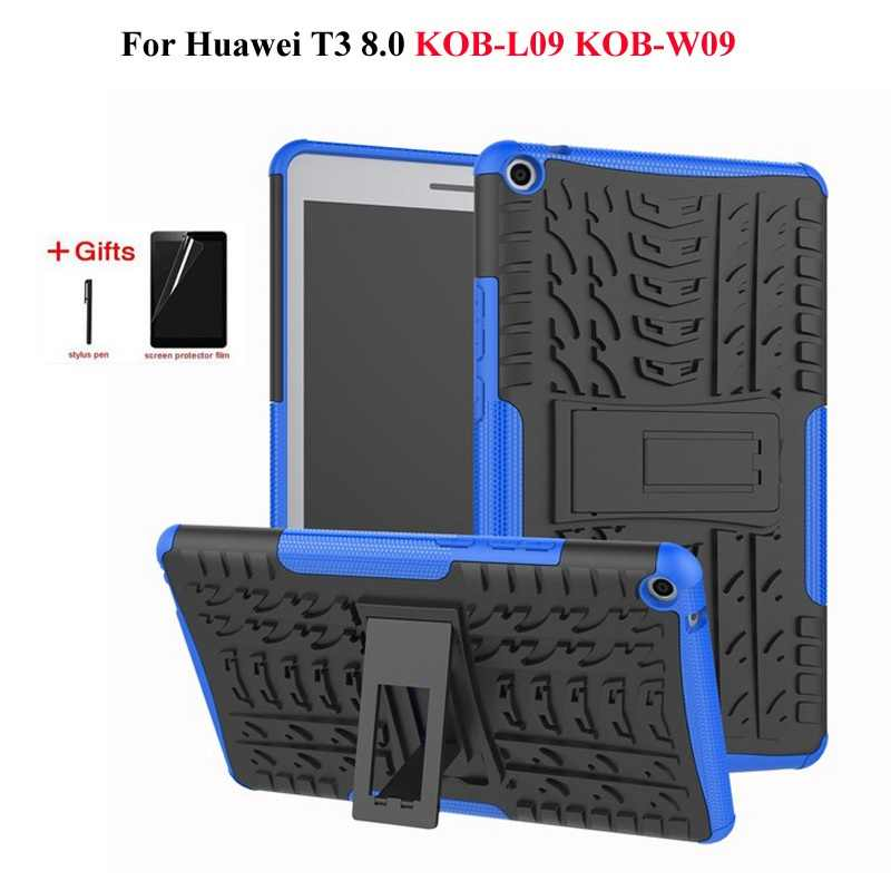 Heavy Duty Hybrid Shockproof Case for Huawei MediaPad T3 8.0 KOB-L09 KOB-W09 Tablet Funda Cover for Honor Play Pad 2 case+Gifts