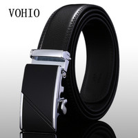 VOHIO 2017men S Fashion Genuine Leather Belts For Men High Quality Metal Automatic Buckle Strap Male