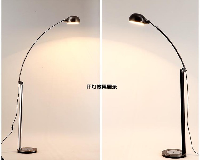 Modern Brief Led Floor Lamp Lights Bedroom Stand Eye Fishing Cool White