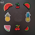(DzIxY) 1 PCS Fruit Watermelon/Banana/Pineapple parches Embroidered Iron on Patches for Clothing DIY Stripes Badges