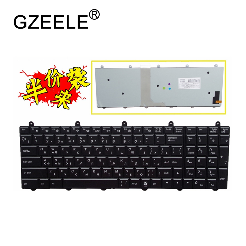 GZEELE russian Laptop keyboard For MSI GE60 GE70 GX60 GX70 GT60 GT70 GT780 GT783 MS-1762 For Clevo P150EM P170EM P370EM P570WM laptop top cover for msi ge60 ms 16gc ms 16ga black new original