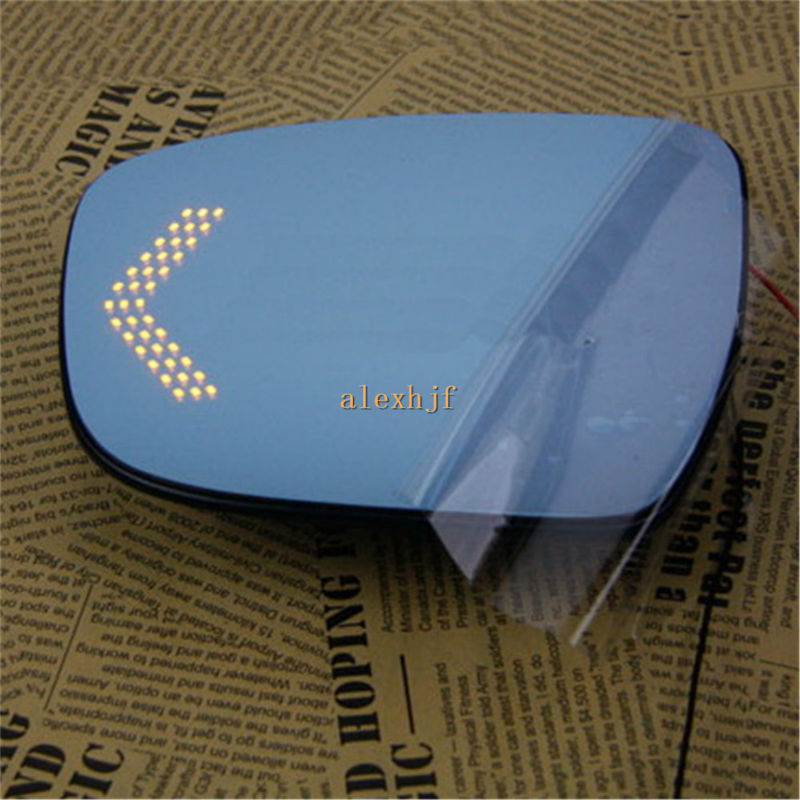 Varthion Rearview Mirror Lens Case for Nissan Murano 2015~ON, Large Field Of Vision, Blue Mirror, Turning Lights, Heat Demisting 2pc abs after the triangle decorate for nissan murano 2015