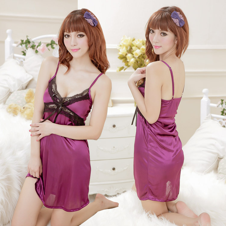 Hot women Silky straps intim chemise nuisette Costumes