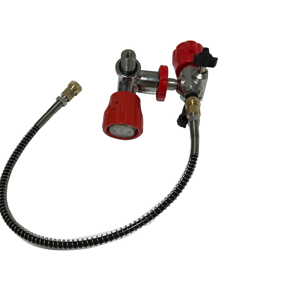 AC901 Acecare Red Valve With Filling Station 30Mpa M18*1.5 For Paintball Scuba And PCP Air Gun Carbon Fiber Cylinder On Sale