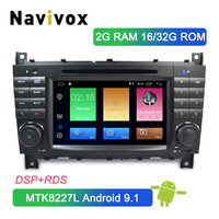Navivox Android 9.1 2 Din Car DVD GPS For Mercedes/Benz W203 W209 W219 A Class A160 C Class C180 C200 CLK200 Car Multimedia Navi