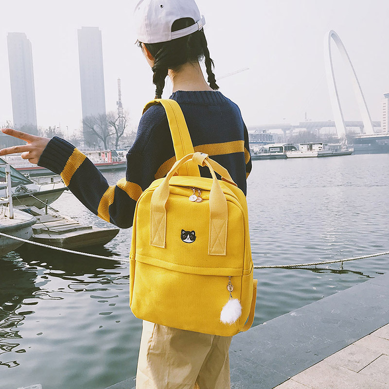 2018 Canvas Fabric Women Backpack for Teenagers Girls Casual Stylish School Bag Ladies Backpack Female Bookbag Mochila Rucksack