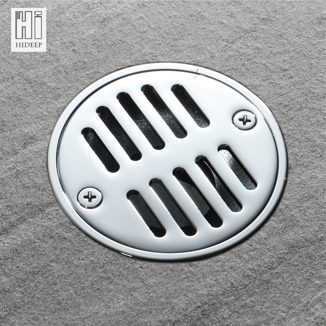 HIDEEP Tile Insert Round Shower Floor Drain Grates Bathroom Invisible  Sliver Bathroom Shower Deodorization Type Copper
