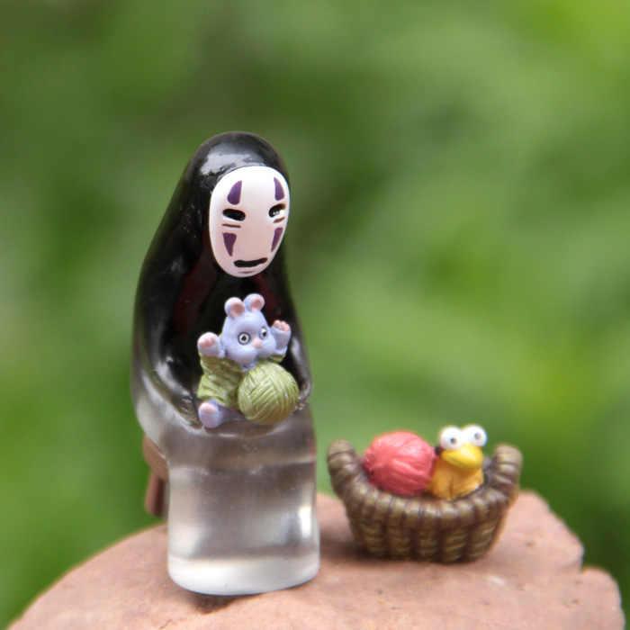 Figura de ação spirited afastado diy sem rosto homem 1.5-4.5cm micro paisagem decoração ornamento boneca presentes pvc modelo anime