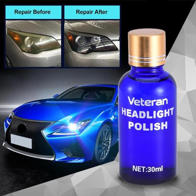 30ml Car Headlight Restoration Kit Auto Lamp Lenses Repair Liquid