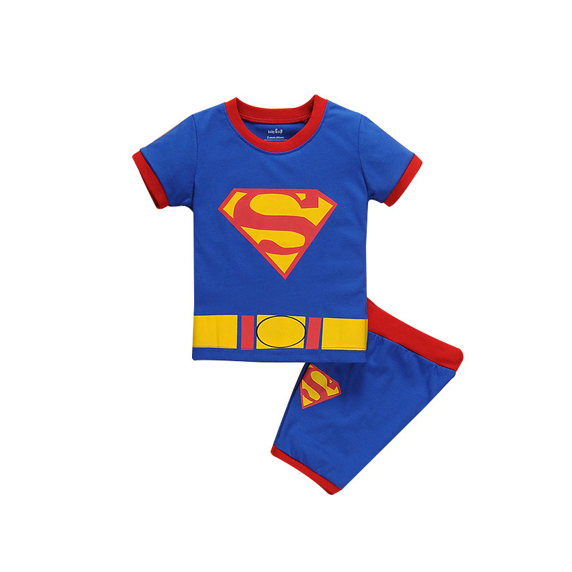 Print Letter S Spiderman Boy Clothing sets Short T-shirt for boys Navy Children Boutique High Quality Clothes age 2 3 4 5 6 7 t ...