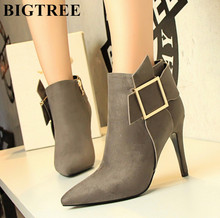 Hot Sale Shoes Woman High Heels Ankle Boots Woman Spring Pointed Toe The Short Boots Women Sexy Winter Stiletto Female Boots