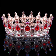 Compare Prices Hot European Designs royal king queen crown rhinestone tiara head jewelry quinceanera crown Wedding bride Tiaras Crowns Pageant