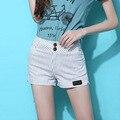 Летом полоса шорты женщин шорты белого темной горячие чино короткие для бразильского тропический пляж Feminino шорты бурлящие штаны