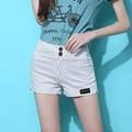 Summer Stripe Shorts Women Shorts White Black Stretch Hot Chino Short For Brazilian Tropical Beach Feminino Shorts Hotpants