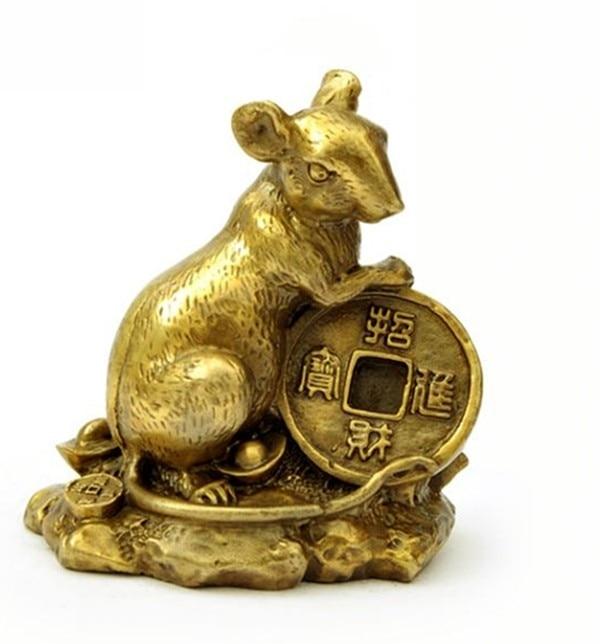 Ornements en cuivre en argent de cuivre souris de rat souhait heureux de gagner de largent dans lameublement de maison de douze ratsOrnements en cuivre en argent de cuivre souris de rat souhait heureux de gagner de largent dans lameublement de maison de douze rats