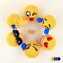 16119 Hehepopo блоки милая улыбка лицо мультфильм данные аукциона игрушка emoji аниме нано Строительные кирпичи смайлики для детей Подарки