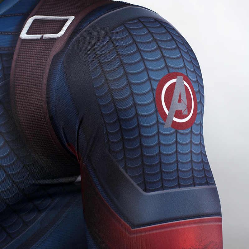 Мстители: костюм Эндшпиля; колготки; футболка Капитана Америки; Стива Роджерса; лучшие костюмы для косплея; вечерние костюмы супергероя Marvel на Хэллоуин