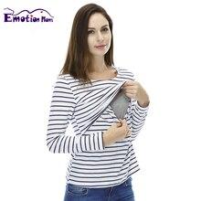 Топы/футболки мам эмоции вскармливания вершины грудного рубашку кормящих беременность материнства беременных