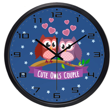 Cartoon Baby Room Owl Wall Clock, Dustproof, Durable For 10Year Useing and Easy to Clean Glass Glass