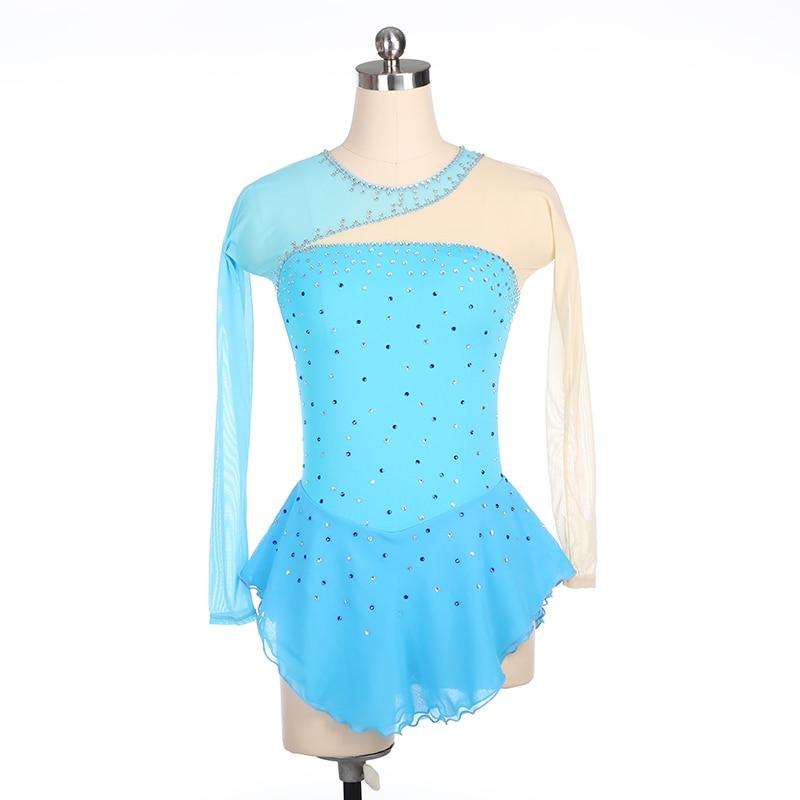 Платье для фигурного катания Nasinaya, индивидуальные юбки для конькобежцев для девочек, женщин, детей, Patinaje, гимнастика, представление 399