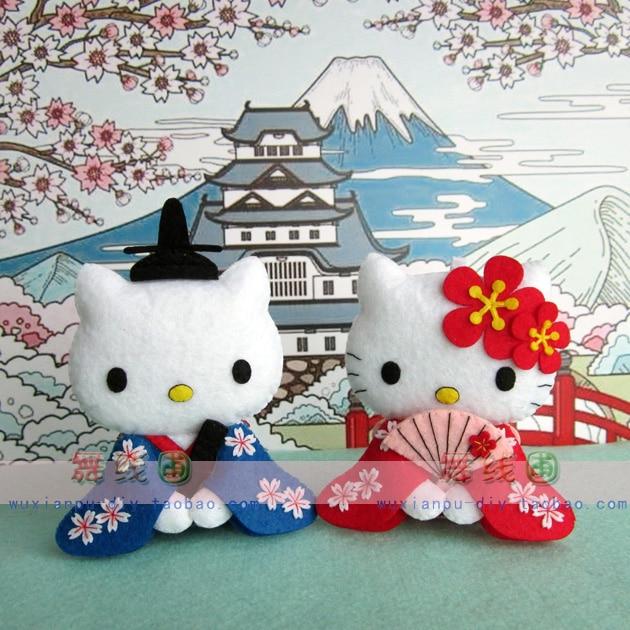 The Cat Doll Kit Non Woven Cloth Craft Diy Sewing Set Felt Handwork