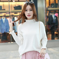 16 Autumn And Winter New Cashmere Sweater Women 's Semi - High - Necked Curling Solid Color Sweater Sets Of Knit Sweater Jacket