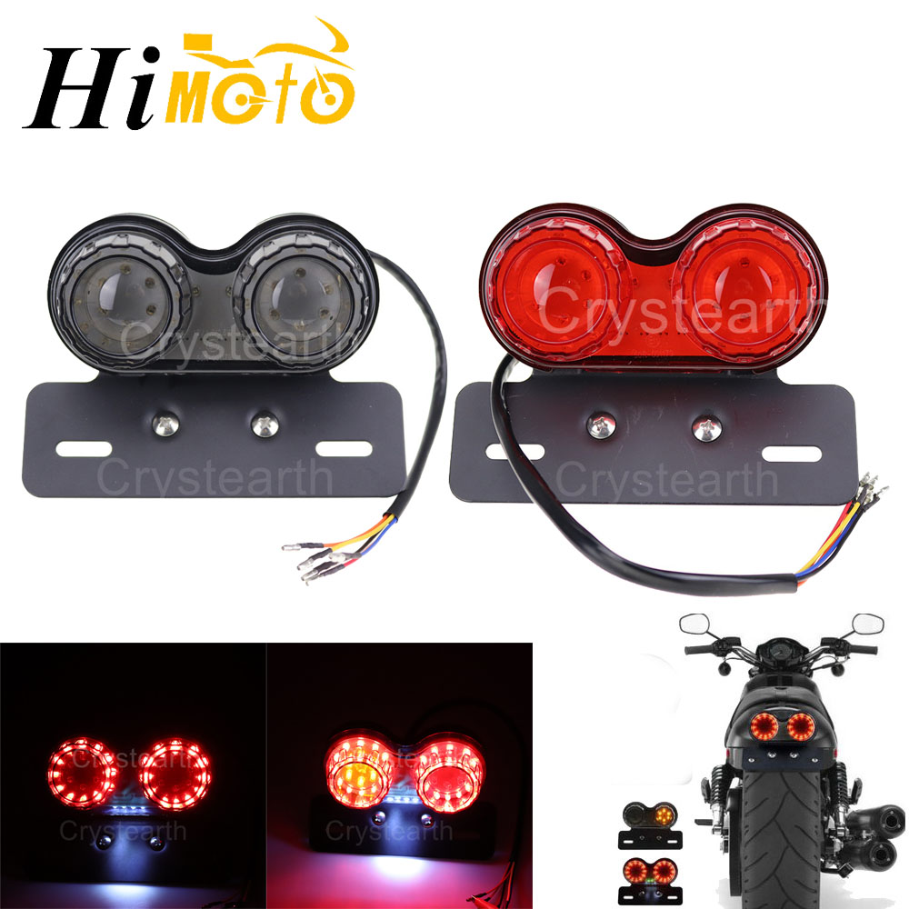 Amber/&Red Harley Integrated Tail Light LED Motorcycle Turn Signal Tail Lights LED Brake Stop Running Indicator Lights Universal