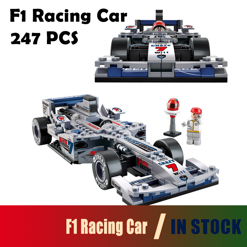 compatible with lego city Model building kits B0352 F1 Racing Car blocks Educational model & building toys hobbies for children