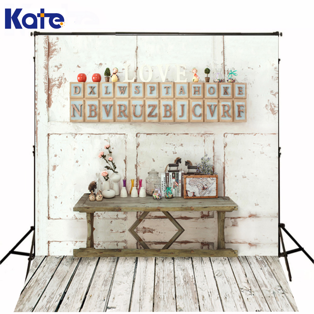 150*200Cm(5Ft*6.5Ft) Photography Backdrops Background Studio Wooden Wall Letters Love