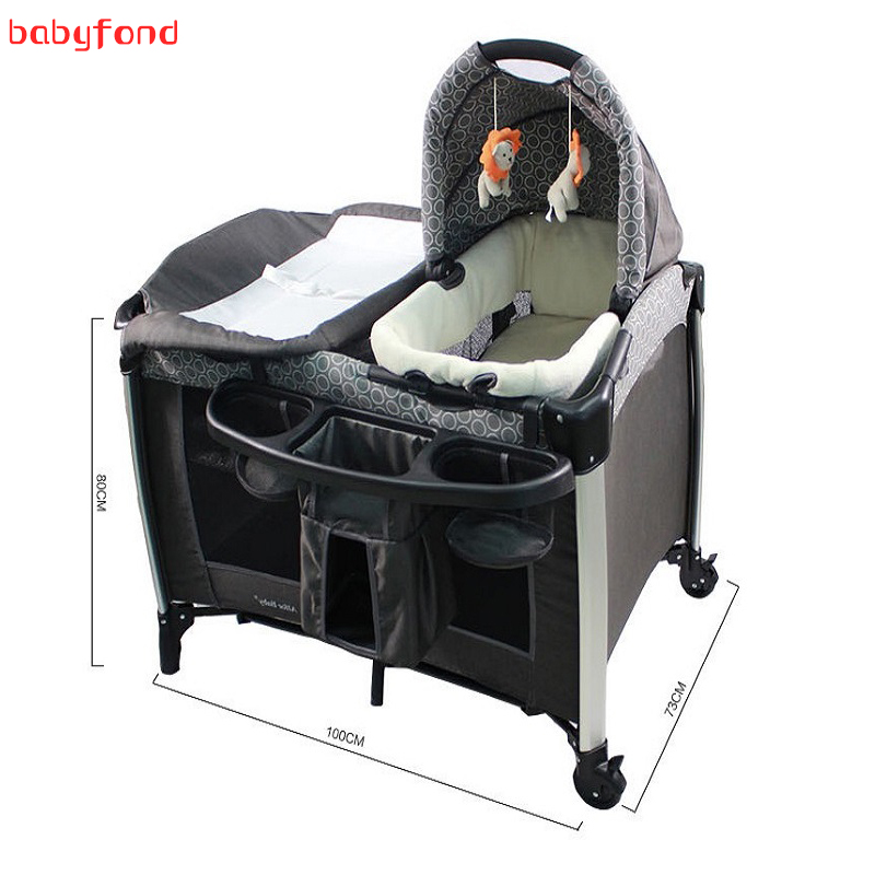 Game bed Multifunction Portable Folding Baby Crib Playpen Baby Sleep Folding Carrycot Bed Baby Bed