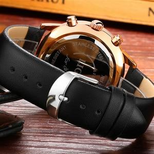 Image 5 - 2017 LIGE hommes montres décontracté Sport montre à Quartz hommes Chronograp horloge homme en cuir affaires montre bracelet Relogio Masculino
