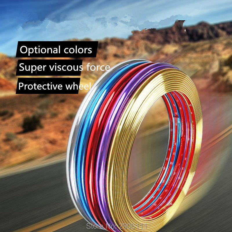 8m car-styling upgrade plating contour decorative adhesive paste accessories for Ford mondeo kuga fiesta Focus 3 ecosport fusion