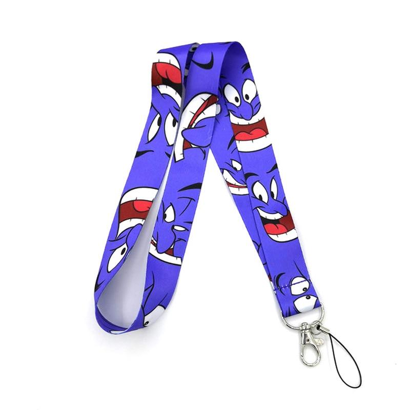 Aladdin And The Magic Lamp Women Kids Neck Lanyard Keychain Mobile Phone Strap ID Badge Holder Rope Key Chain Keyrings Cosplay